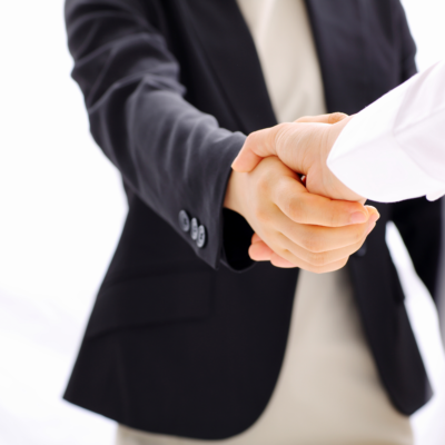 Being Safe at Work - Two people shaking hands